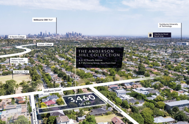 6, 8, 10 Tourello Avenue & 9 Myrniong Grove, HAWTHORN EAST VIC, 3123